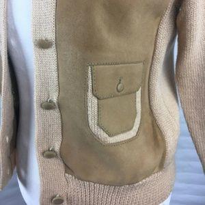 Unique Vintage Suede and Wool Jacket Size Med